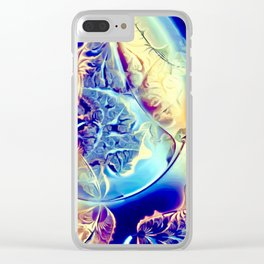 Etched Glass Abstract Clear iPhone Case
