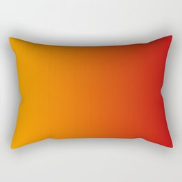 Red Orange Gradient Rectangular Pillow