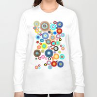 contemporary Long Sleeve T-shirts featuring Contemporary Circles by Ruth Fitta Schulz