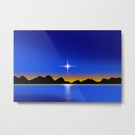 Star Horizon 101 Blue Sky Metal Print