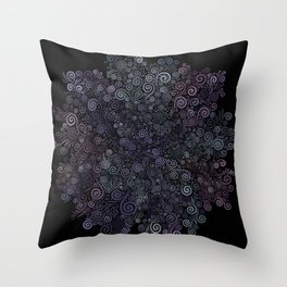 3D Psychedelic Powder Pastel NeuRose Throw Pillow