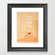 Riot Kiss - Meme Movie Posters Framed Art Print