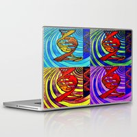dna Laptop & iPad Skins featuring DNA by Art By Carob