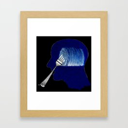Hay Bale Brains Framed Art Print