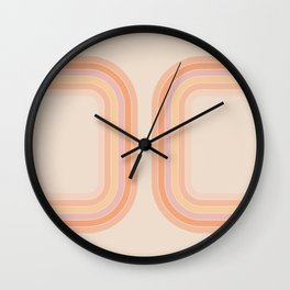 Tangerine Tunnel Wall Clock