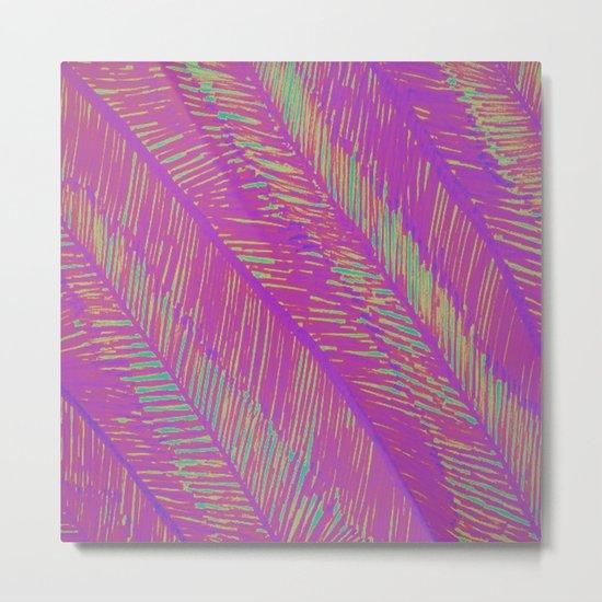 Neon Summer Palms Metal Print