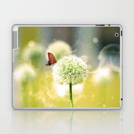 Allium fantasy flowers with butterfly Laptop & iPad Skin