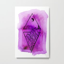 LINE ART Metal Print