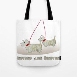 Westies are Besties 2 Tote Bag