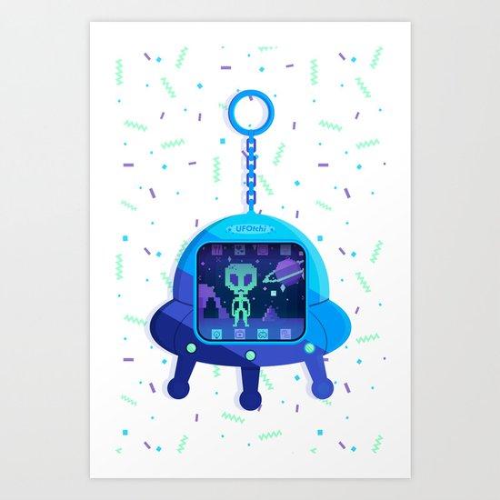 UFOtchi Art Print