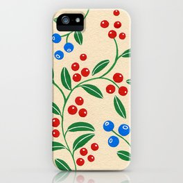 Forest berries iPhone Case