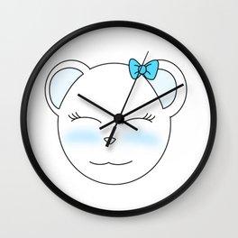 Cute Polar Bear Girl Wall Clock