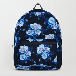 Dark and Blue Roses Backpack