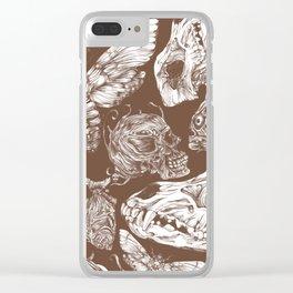 Bones in Brown Clear iPhone Case