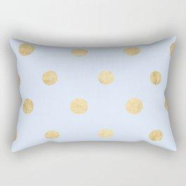 Gold balls Rectangular Pillow