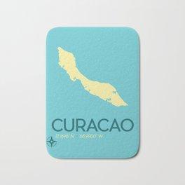 Curacao Island Travel Poster Bath Mat