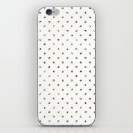 Dainty Gold Stars Pattern iPhone Skin