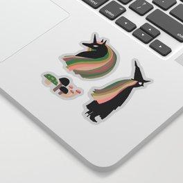 Mushroom Witch and Unicorn Sticker