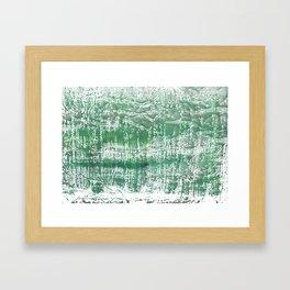 Sea green blurred watercolor pattern Framed Art Print