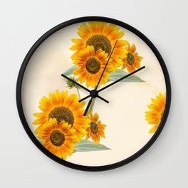 Sunflowers paterns Wall Clock