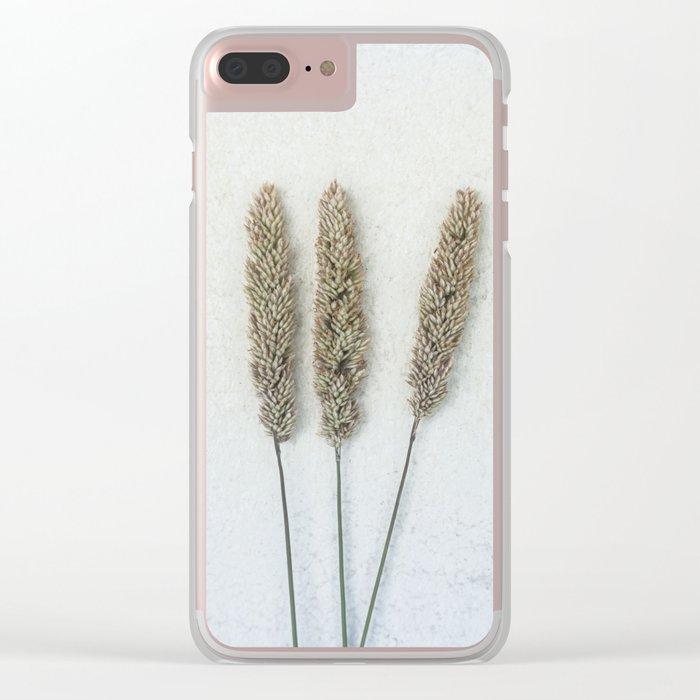 Summer Grass Clear iPhone Case