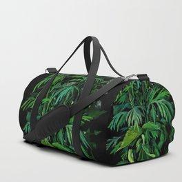 Green & Black, Floral Art Duffle Bag