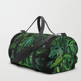 Summer Greenery, Green & Black Duffle Bag