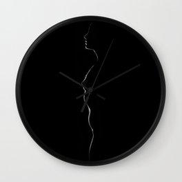 2983-EH Sensual Side Light B&W Studio Nude Erotic Photography by Chris Maher Wall Clock