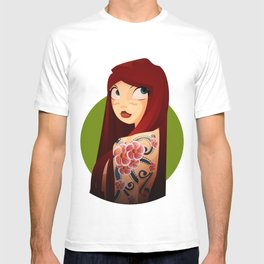 the girl with the flower tattoo T-shirt