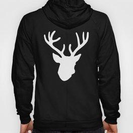 Deer Head: White Hoody