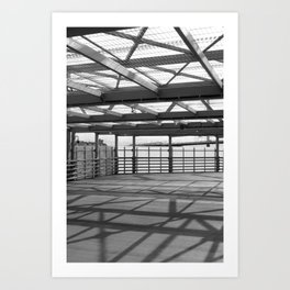 Metal constructions barriers with protective cells Art Print
