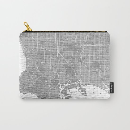 Los Angeles map grey Carry-All Pouch