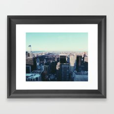 Take me back to the city Framed Art Print