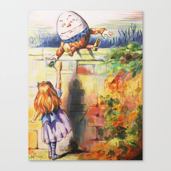 Alice Meeting Humpty Dealer Canvas Print