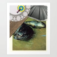 seal Art Prints featuring Seal by Mary Lewey