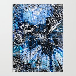 Broken blue by Brian Vegas Poster