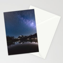 Summer Stars - Galaxy Mountain Reflection - Nature Photography Stationery Cards