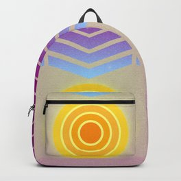 Sunset (Geometric abstract) Backpack