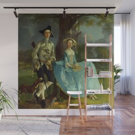 "Thomas Gainsborough ""Mr and Mrs Andrews"" Wall Mural"