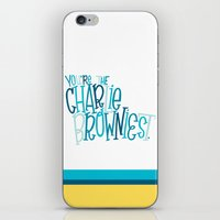 charlie brown iPhone & iPod Skins featuring Charlie Browniest by Chelsea Herrick