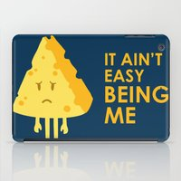 sayings iPad Cases featuring It ain't easy being cheesy by Picomodi