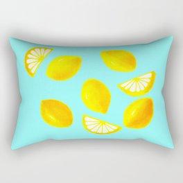 Lemons and Lemon Slices Rectangular Pillow