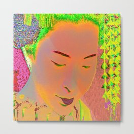 Geisha Pop Art Metal Print