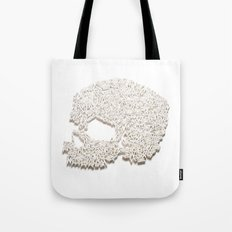 303. A Skull of Letters Tote Bag