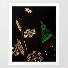 Terminal Tower Christmas Art Print