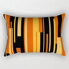 Modern Tiger - Abstract - Yellow, Orange, Black Rectangular Pillow