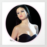 selena gomez Art Prints featuring Selena by kelsey cooke art