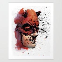 Unrelenting: Daredevil - Color by Allen Passalaqua Art Print