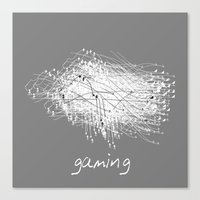 gaming Canvas Prints featuring gaming by K_REY_C