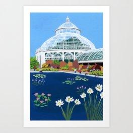 Botanical Gardens New York Art Print